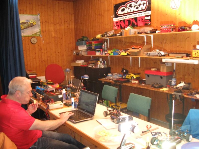 Frank arbeitet am Setup